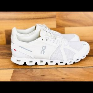 On cloud athletic running shoes